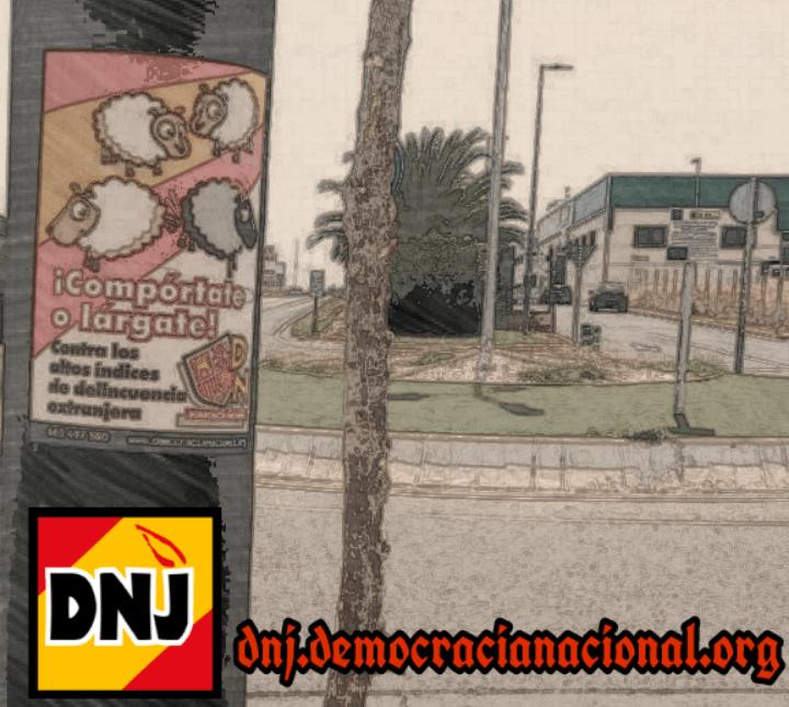 Acción militante en Sevilla | Democracia NacionalJoven